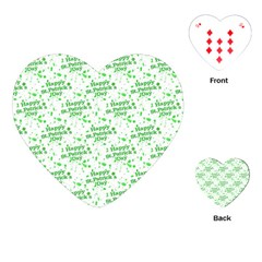 Saint Patrick Motif Pattern Playing Cards (heart)  by dflcprints