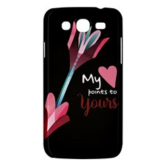 My Heart Points To Yours / Pink And Blue Cupid s Arrows (black) Samsung Galaxy Mega 5 8 I9152 Hardshell Case  by FashionFling