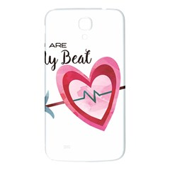 You Are My Beat / Pink And Teal Hearts Pattern (white)  Samsung Galaxy Mega I9200 Hardshell Back Case by FashionFling