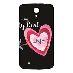 You Are My Beat / Pink And Teal Hearts Pattern (black)  Samsung Galaxy Mega I9200 Hardshell Back Case by FashionFling