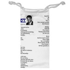 Kennedy Poem Jewelry Bag by athenastemple