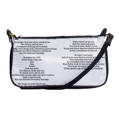 Kennedy Poem Shoulder Clutch Bags by athenastemple