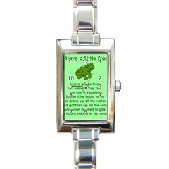 Little Frog Poem Rectangle Italian Charm Watch by athenastemple