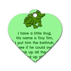 Little Frog Poem Dog Tag Heart (two Sides) by athenastemple