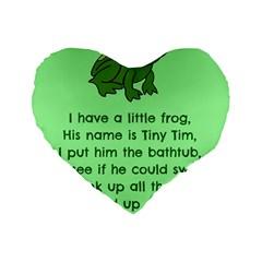 Little Frog Poem Standard 16  Premium Flano Heart Shape Cushions by athenastemple