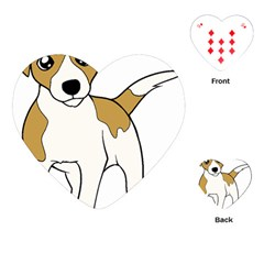 Jack Russell Terrier Cartoon Playing Cards (heart)  by TailWags