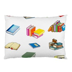 Bookworm Pattern Pillow Case by athenastemple