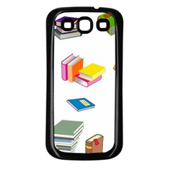 Bookworm Pattern Samsung Galaxy S3 Back Case (black) by athenastemple