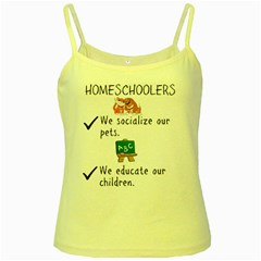 Homeschoolers Socialize Yellow Spaghetti Tank by athenastemple