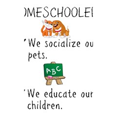 Homeschoolers Socialize Shower Curtain 48  X 72  (small)  by athenastemple