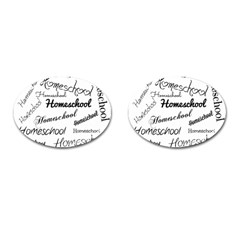 Homeschool Cufflinks (oval) by athenastemple