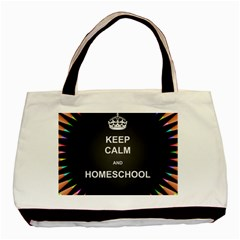 Keepcalmhomeschool Basic Tote Bag by athenastemple