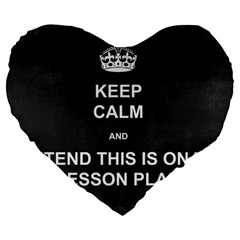 Lessonplan Large 19  Premium Heart Shape Cushions by athenastemple
