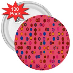Circles Abstract Circle Colors 3  Buttons (100 Pack)  by Nexatart