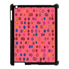 Circles Abstract Circle Colors Apple Ipad 3/4 Case (black) by Nexatart
