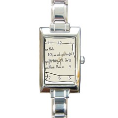 Mathx Rectangle Italian Charm Watch by athenastemple
