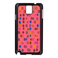 Circles Abstract Circle Colors Samsung Galaxy Note 3 N9005 Case (black) by Nexatart