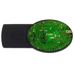 Circuit Board Usb Flash Drive Oval (2 Gb) by Nexatart