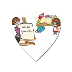 Mom Heart Magnet by athenastemple