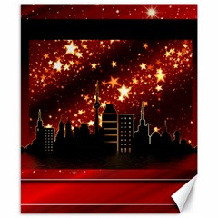 City Silhouette Christmas Star Canvas 8  X 10  by Nexatart