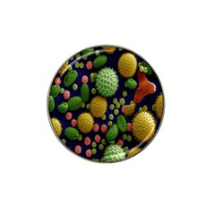 Colorized Pollen Macro View Hat Clip Ball Marker (4 Pack)