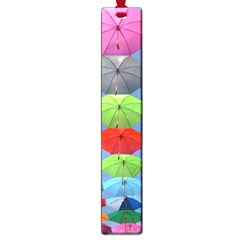 Color Umbrella Blue Sky Red Pink Grey And Green Folding Umbrella Painting Large Book Marks by Nexatart
