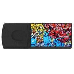 Colorful Graffiti Art Usb Flash Drive Rectangular (4 Gb) by Nexatart