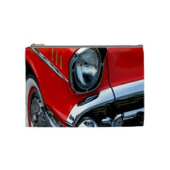 Classic Car Red Automobiles Cosmetic Bag (medium)  by Nexatart