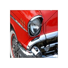 Classic Car Red Automobiles Acrylic Tangram Puzzle (4  X 4 ) by Nexatart