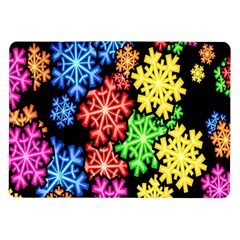 Colourful Snowflake Wallpaper Pattern Samsung Galaxy Tab 10 1  P7500 Flip Case by Nexatart