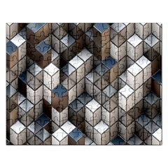 Cube Design Background Modern Rectangular Jigsaw Puzzl by Nexatart