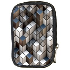 Cube Design Background Modern Compact Camera Cases by Nexatart