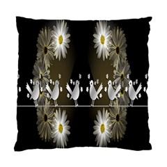 Daisy Bird  Standard Cushion Case (one Side) by Nexatart