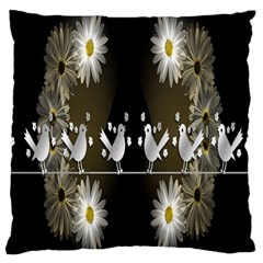 Daisy Bird  Large Cushion Case (two Sides) by Nexatart