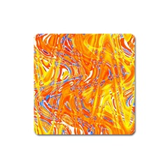 Crazy Patterns In Yellow Square Magnet by Nexatart