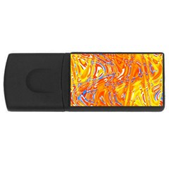 Crazy Patterns In Yellow USB Flash Drive Rectangular (4 GB) by Nexatart
