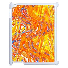 Crazy Patterns In Yellow Apple Ipad 2 Case (white) by Nexatart