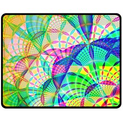 Design Background Concept Fractal Double Sided Fleece Blanket (medium)  by Nexatart