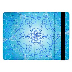 Design Winter Snowflake Decoration Samsung Galaxy Tab Pro 12 2  Flip Case by Nexatart