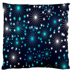 Digitally Created Snowflake Pattern Large Flano Cushion Case (two Sides) by Nexatart