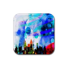 Dirty Dirt Spot Man Doll View Rubber Coaster (square)  by Nexatart