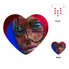 Display Dummy Binary Board Digital Playing Cards (heart)  by Nexatart