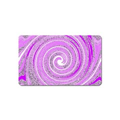 Digital Purple Party Pattern Magnet (Name Card) by Nexatart