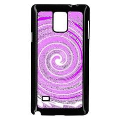 Digital Purple Party Pattern Samsung Galaxy Note 4 Case (black)