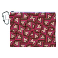 Digital Raspberry Pink Colorful Canvas Cosmetic Bag (xxl) by Nexatart