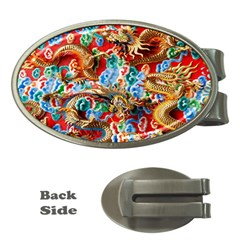 Dragons China Thailand Ornament Money Clips (Oval)  by Nexatart