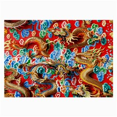 Dragons China Thailand Ornament Large Glasses Cloth by Nexatart