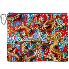 Dragons China Thailand Ornament Canvas Cosmetic Bag (xxxl) by Nexatart