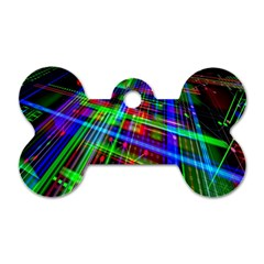 Electronics Board Computer Trace Dog Tag Bone (one Side) by Nexatart