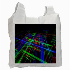 Electronics Board Computer Trace Recycle Bag (Two Side)  by Nexatart